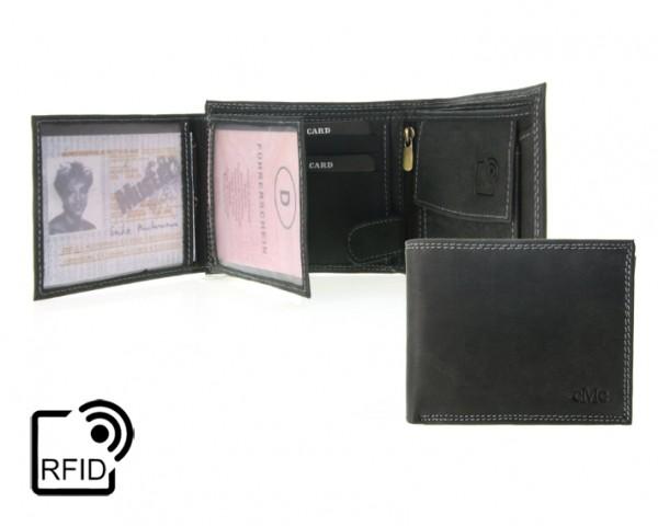 344890 Geldbörse Portemonnaie Herren RFID Querformat