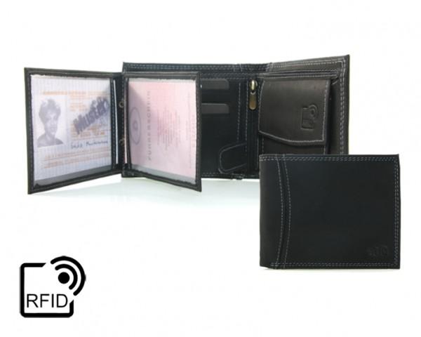 344892 Geldbörse Portemonnaie Herren RFID Querformat