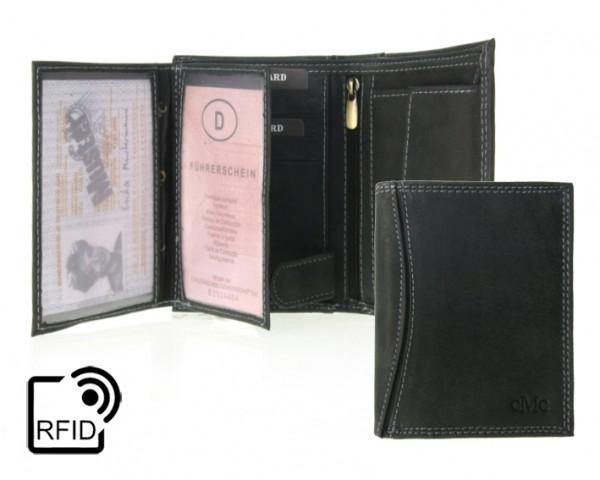344897 Geldbörse Portemonnaie Herren RFID Hochformat